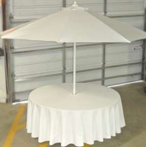 108″ White Umbrella Linen