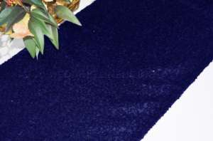 Navy Sequin Runner