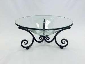 Bowl, Glass, 17″ W/ Stand Kit