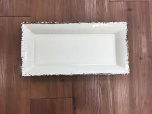 Tray, White Antiqued – 18″x 8″