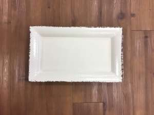 Tray, White Antiqued – 21″x 13″