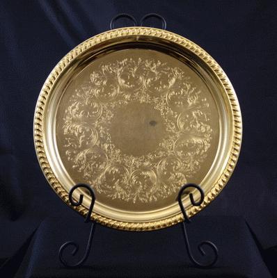 Gold, Round, 12″
