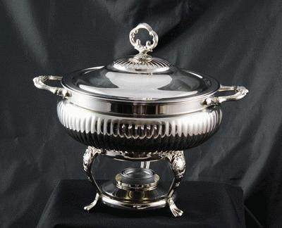Silver, Round, 3 Qt. (With Glass Liner)