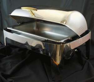 Stainless, Round Top, Gold Handle, 8 Qt