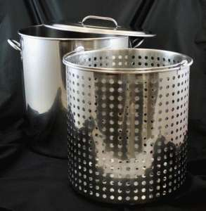 Pot, W/ Basket, 25 Gallon (100 Qt.)