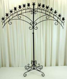 Candelabra, 15 Light Arch, Onyx Bronze Or Nickel