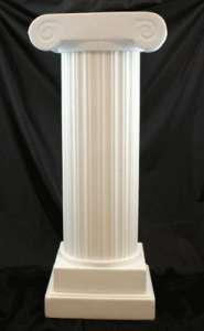 Column, Roman, White, Plastic 3′