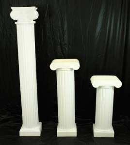 Column, Roman, White, 6′