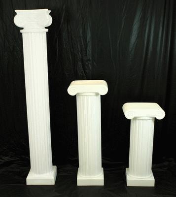 Column, Roman, White, 4′