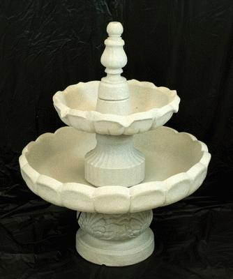 Fountain, Garden, Granite Color, Plastic