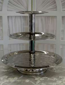 Stainless, 3 Tier, Contemporary