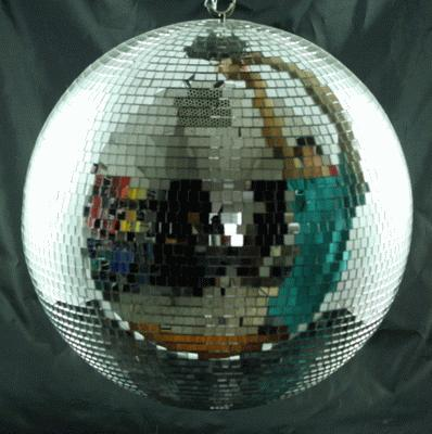 Disco/Mirror Ball, 16″ W/2 Spots