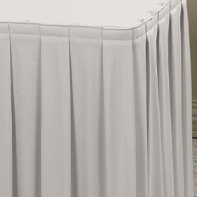 White 13.5ft Boxpleat Skirt