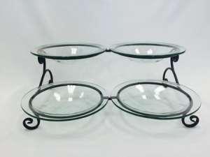 Bowl Set (4), Glass, W/ Stand Kit