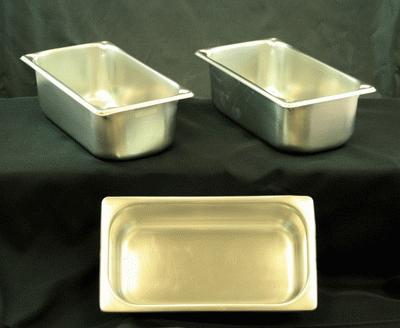 Stainless, Extra Set Of Pans, 4″ Triple