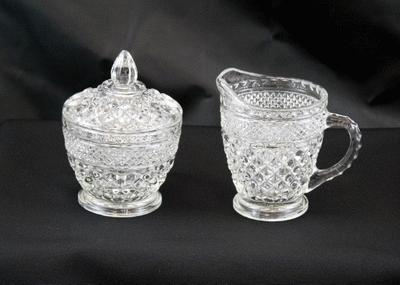 Glass Sugar/Creamer Set