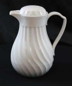 Coffee Carafe, White, 1 Liter