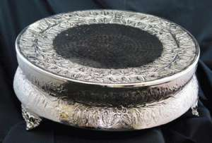 Silver, Cake Stand, 20″, Round