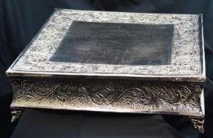 Silver, Cake Stand, 22″, Square