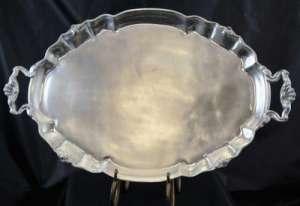 Oval Aluminum Tray 17″ X 28″, W/Handles