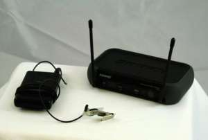 Wireless Lapel Microphone & Receiver