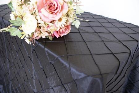 Black 90″ x 156″ Pintuck