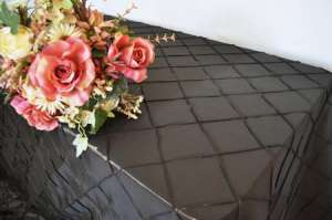 Chocolate 90″ x 156″ Pintuck