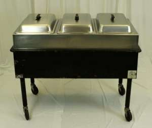Steam Table, Propane, 3 Bay