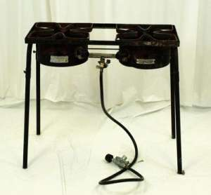 Cooker On Stand, Double Burner