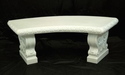 Garden Bench, White Plastic