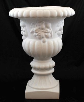 Garden Urn, White Plastic