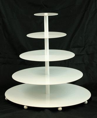 Contemporary Cupcake Tree, White