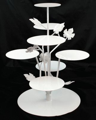 Cupcake Tree, White W/ Leaves