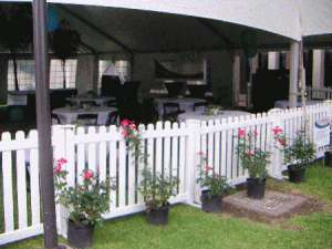 White Resin Fence Panels 6′ X 42″
