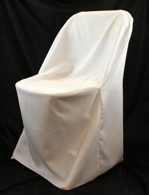 White, Folding Chair Cover