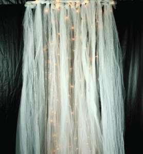 Beaded, Tulle, Lighted Curtain