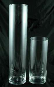 Glass 16 X 6 Cylinder Vase, Clear
