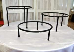 Stand, Round, 4″ High (Used For Square & Round Trays)