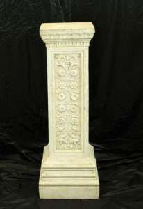 Antique 3.5′ Square Column, Floral Design