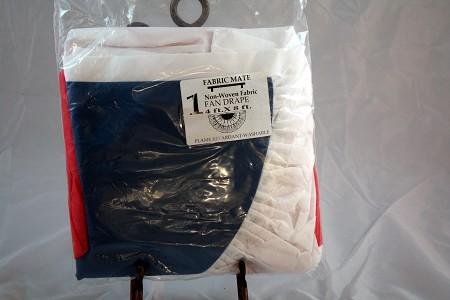 Fan Drapes, Red,White & Blue, 2′ X 4′
