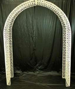Archway, White Wicker
