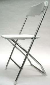 Indoor/Outdoor Aluminum Frame, White, Plastic Chair