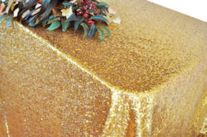 Gold Sequin 90″ x 156″