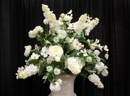 Silk Arrangement For Urns