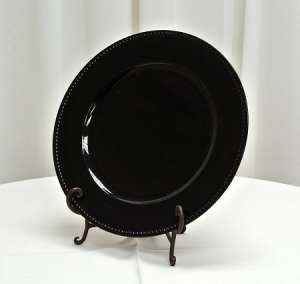 Plate, Charger, Black, 13″