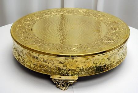 Gold, Cake Stand, 18″, Round