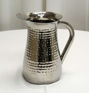 Pitcher, Hammered Stainless Steel