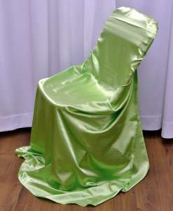 Apple Green, Satin Self Tie Chair Cover