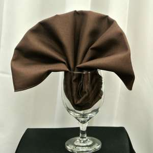 Chocolate Poly Napkin