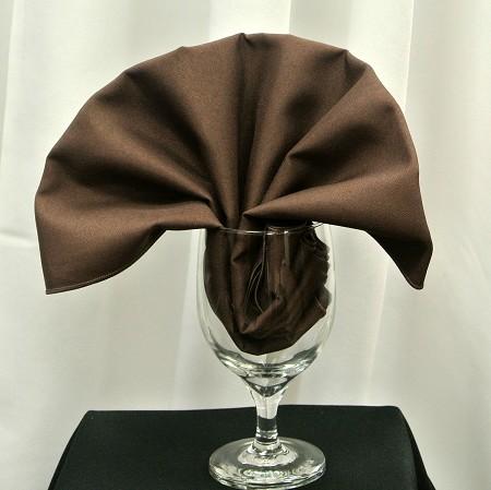 Chocolate Poly Napkin